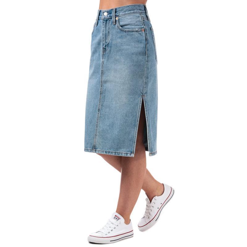 Sukně Levis Womens Side Slit Skirt Denim