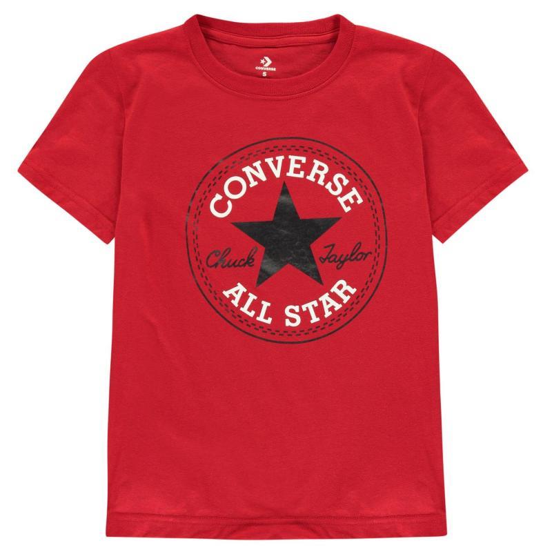 Tričko Converse Chuck Taylor Short Sleeve T Shirt Red
