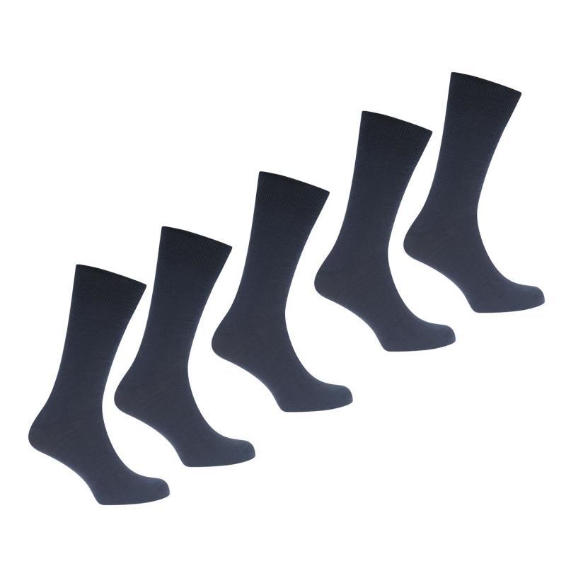 Ponožky Linea Linea 5 Pack New Socks Mens Navy