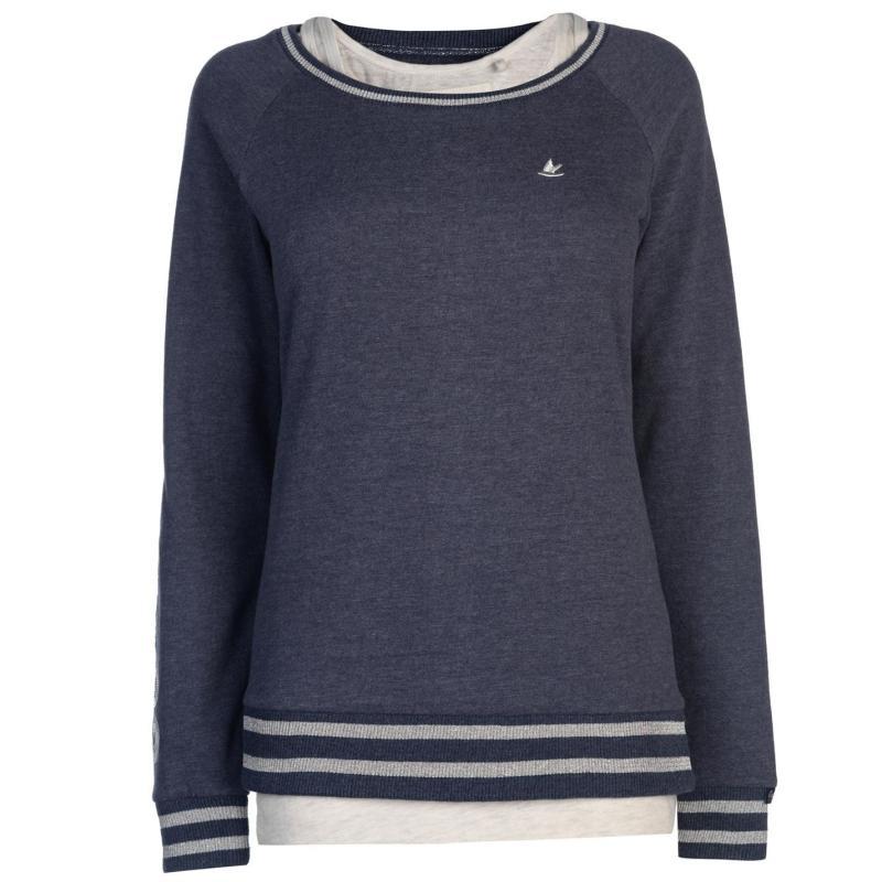 Mikina SoulCal Double Layer Sweatshirt Ladies CharcoalM/White