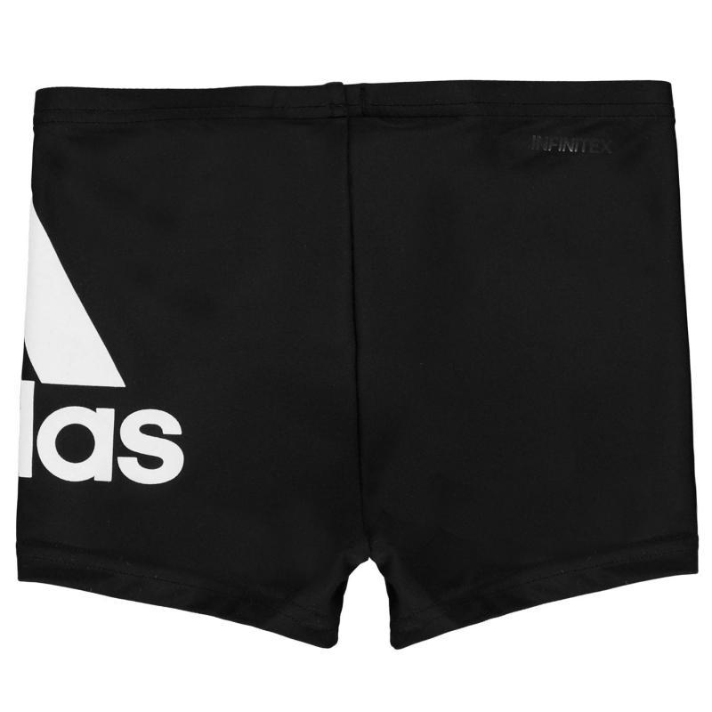 Plavky adidas Boys Badge Of Sport Swim Boxer Trunks Black