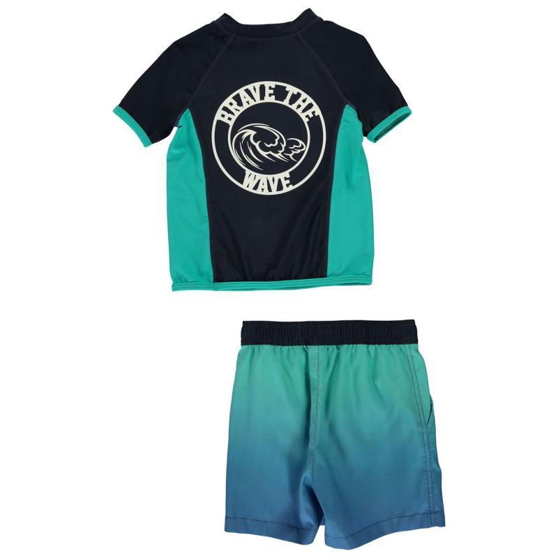 Plavky Crafted Essentials 2 Piece Swim Set Child Boys 3Pc Blue Ombre