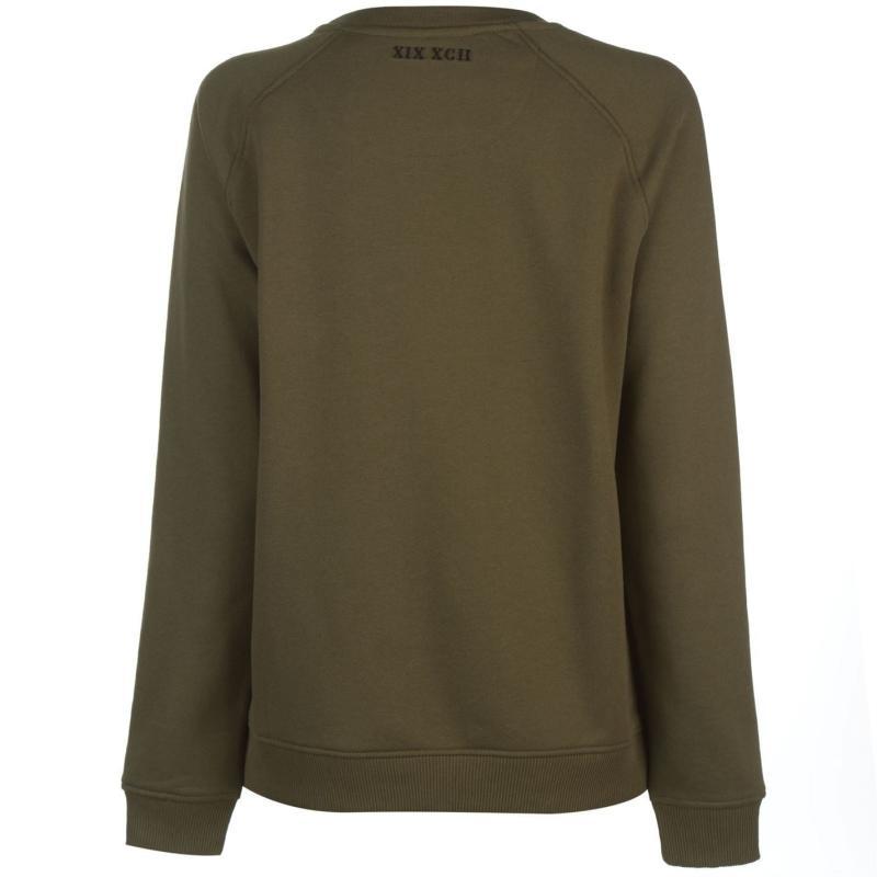 Mikina s kapucí Firetrap Luxe Crew Sweatshirt Ladies Khaki