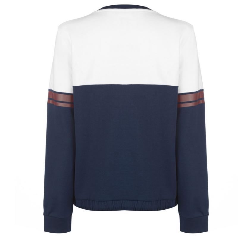 Mikina Lonsdale Crew Sweatshirt Ladies White/Navy