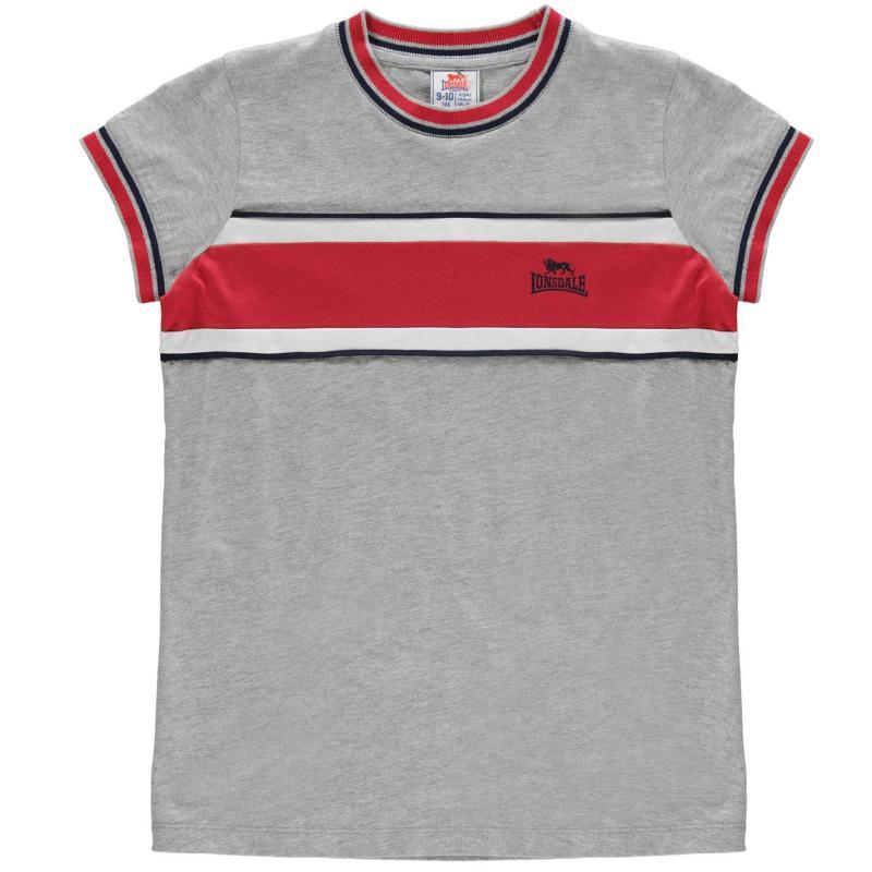 Lonsdale Short Sleeve T Shirt Junior Girls Grey Marl