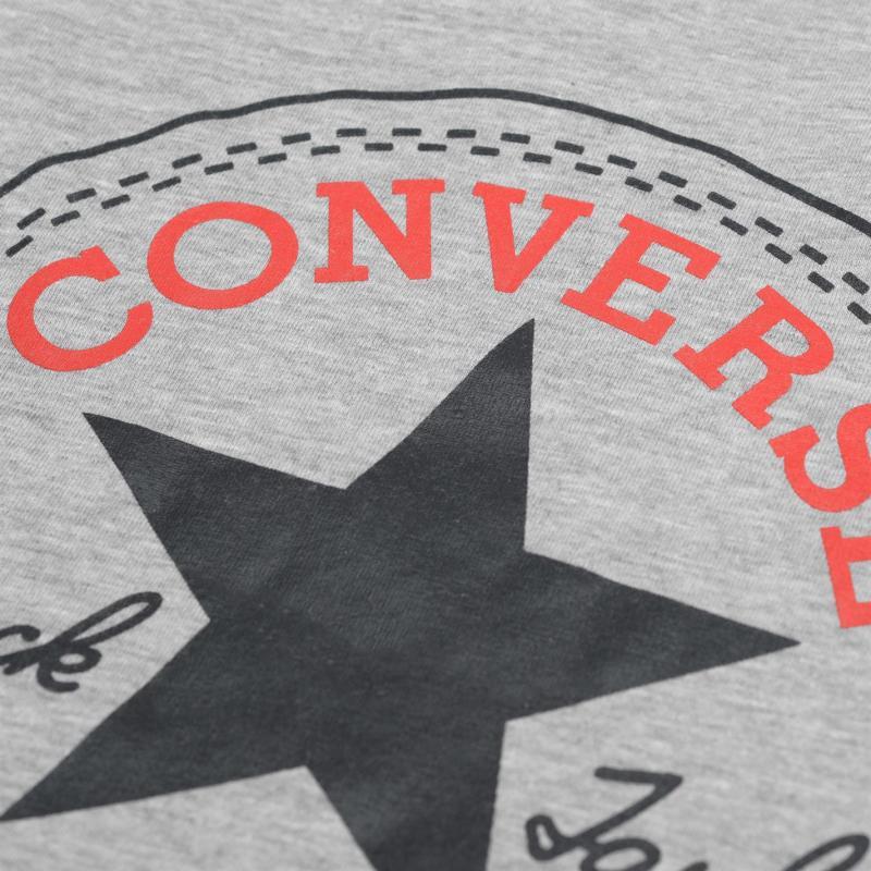 Tričko Converse Chuck Taylor Short Sleeve T Shirt Dark Grey Hthr