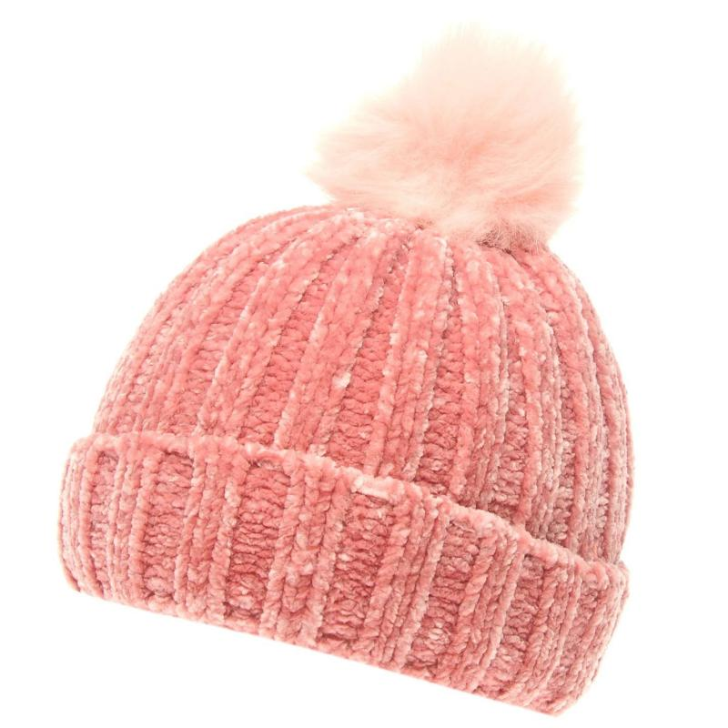 Crafted Essentials Chenille Hat Child Girls Pink/Chenille