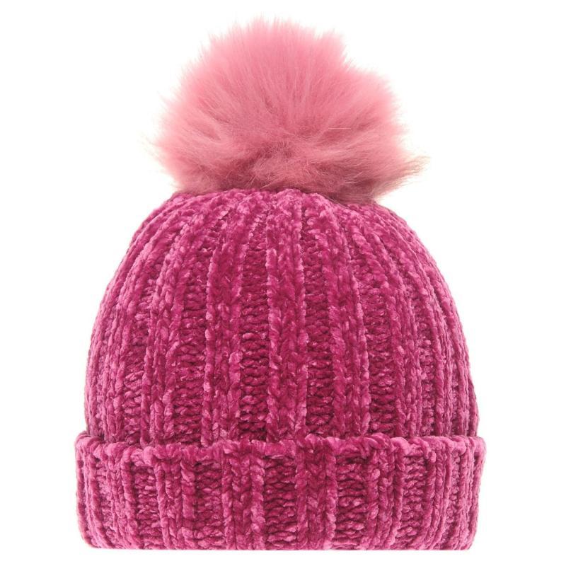 Crafted Essentials Chenille Hat Child Girls Pink/Chenille