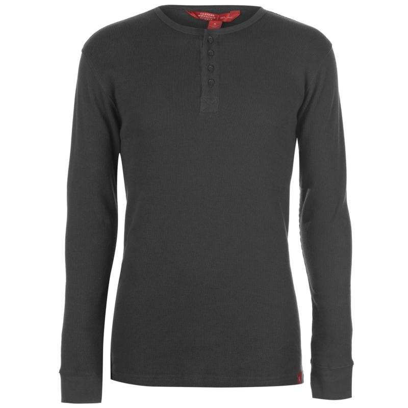 Eastern Mountain Sports Waffle Henley T Shirt Mens Forged Iron