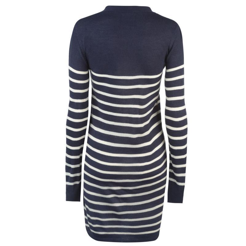 Svetr Lee Cooper Stripe Long Cardigan Ladies Grey M/Char M