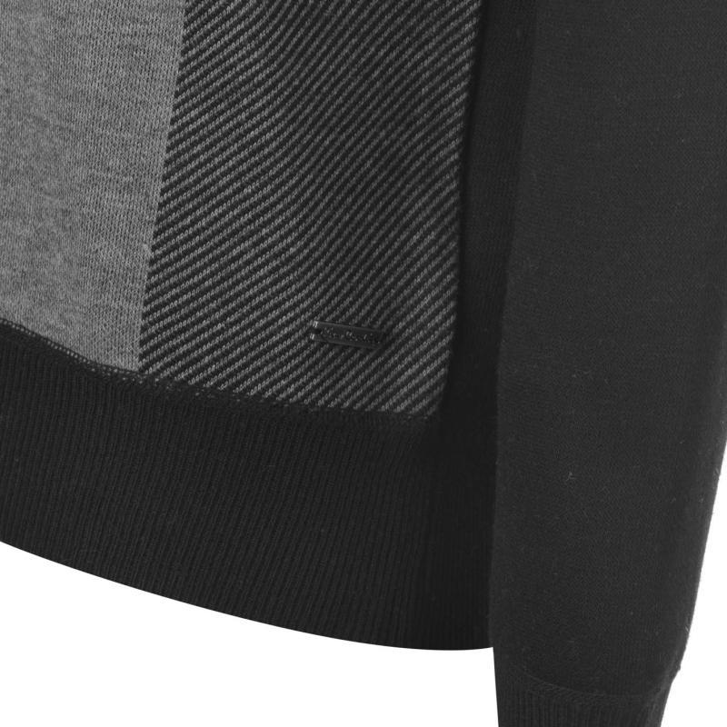 Pierre Cardin Crew Knit Mens Black