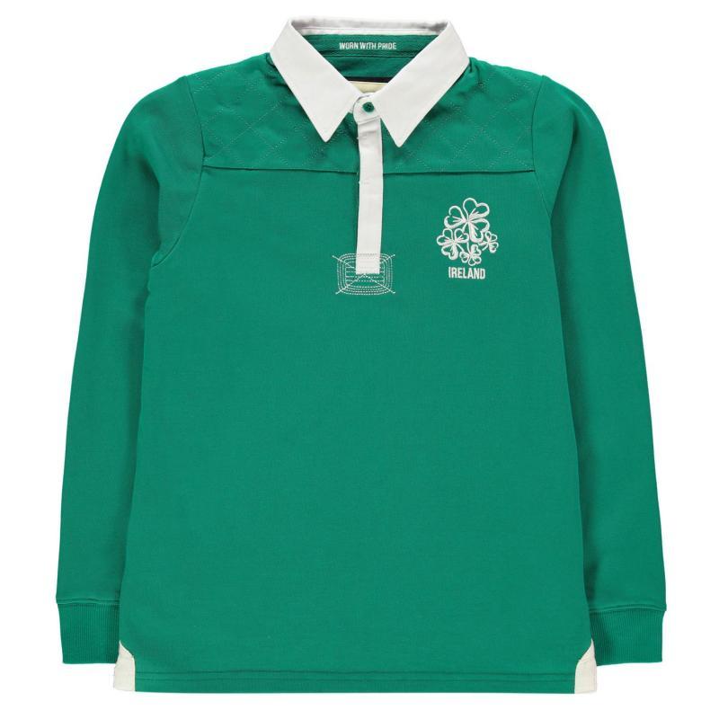 Tričko Rugby World Cup Long Sleeve Jersey Junior Boys Ireland