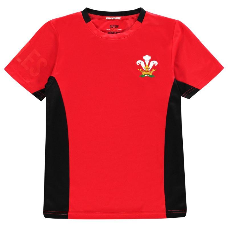 Tričko Rugby World Cup Poly T Shirt Junior Boys Wales