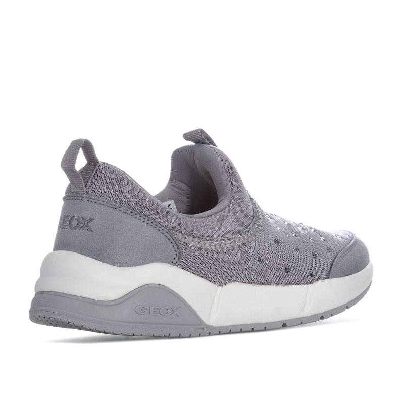 Geox Children Girls Hideaki Slip On Trainers Grey