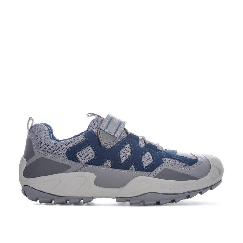 Boty Geox Junior Boys New Savage Trainers Grey