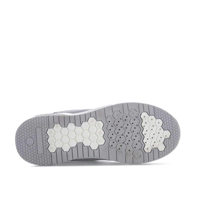 Geox Junior Girls Hideaki Slip On Trainers Grey