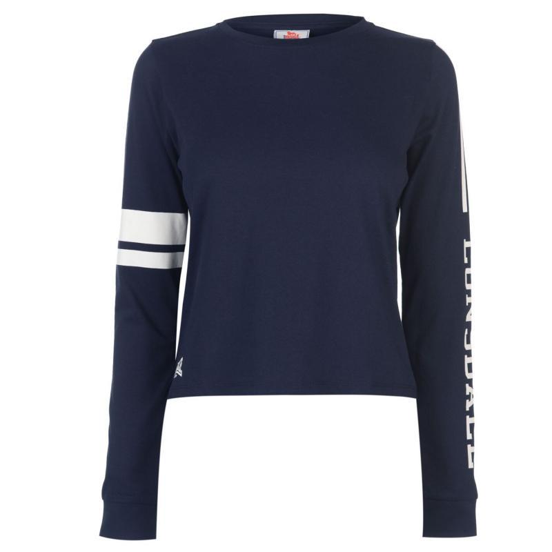 Mikina Lonsdale Crop Crew Sweatshirt Ladies Navy