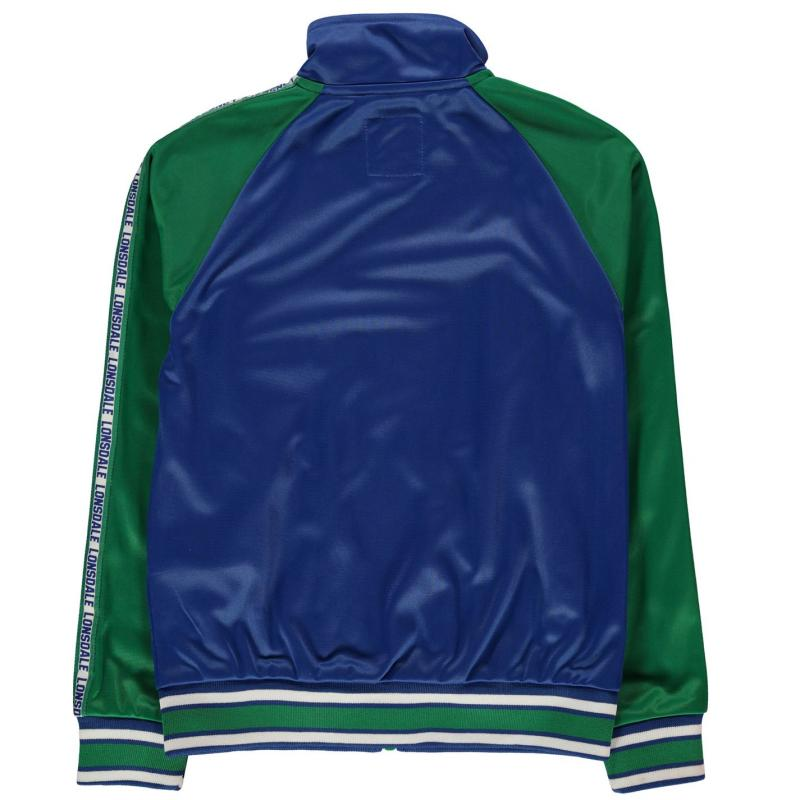 Tepláky Lonsdale Track Funnel Neck Jacket Junior Boys Nvy/Grn