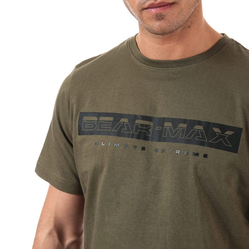 Tričko Bear Max Mens Glacier Large Logo T-Shirt Black