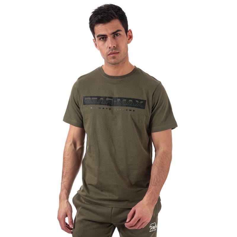 Tričko Bear Max Mens Glacier Large Logo T-Shirt Khaki
