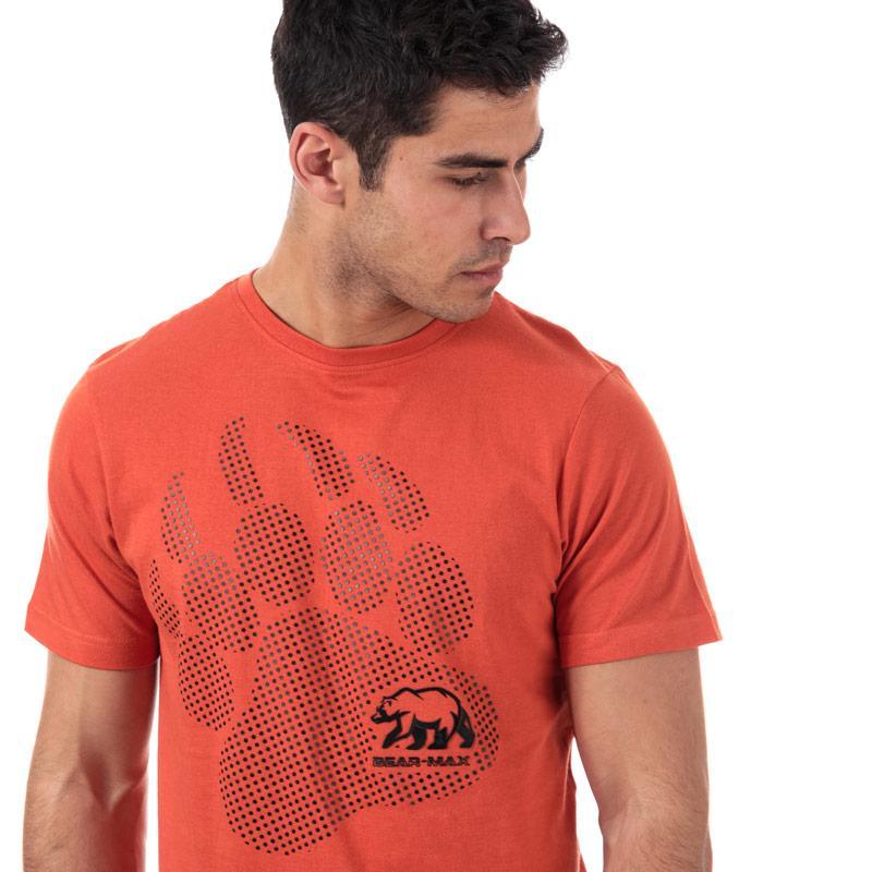 Tričko Bear Max Mens Kermode Front Graphic T-Shirt Orange