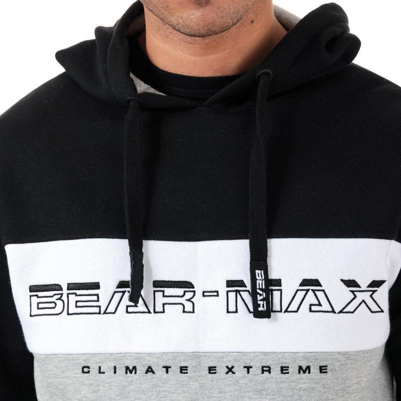 Mikina Bear Max Mens Polar Overhead Colour Block Hoody Khaki