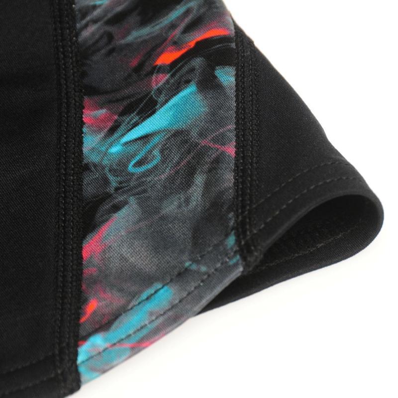 Plavky Slazenger Curve Panel Boxer Swim Shorts Junior Boys Black/Multi