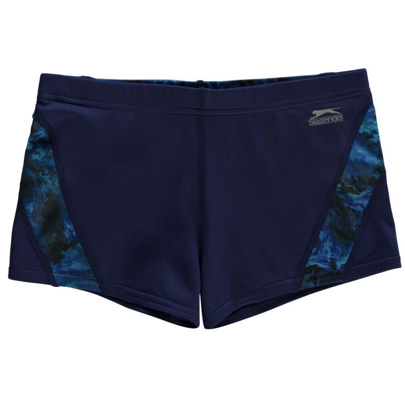 Plavky Slazenger Curve Panel Boxer Swim Shorts Junior Boys Navy/Blue