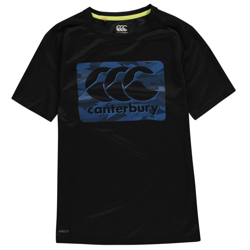 Tričko Canterbury CCC Large Logo T Shirt Junior Boys Black