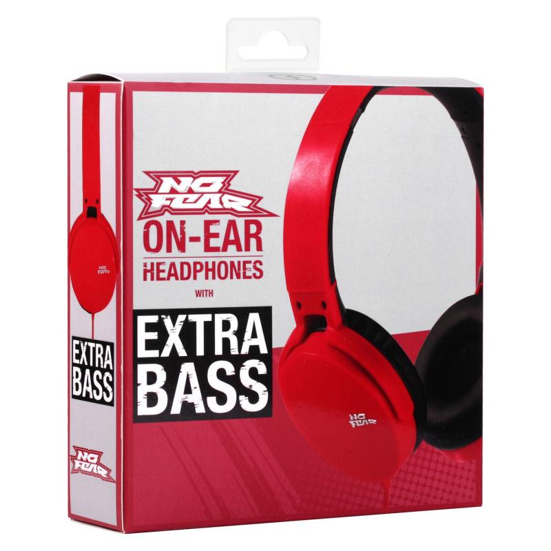 No Fear Core Headphones Red