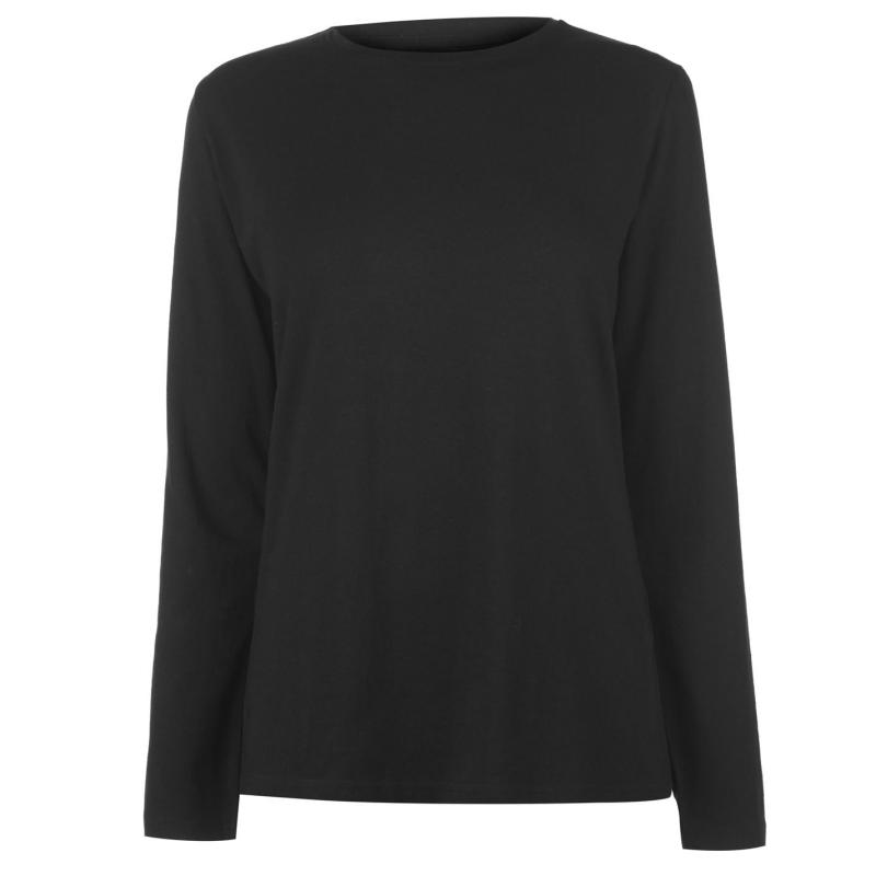 Rock and Rags Long Sleeve T Shirt Ladies Black