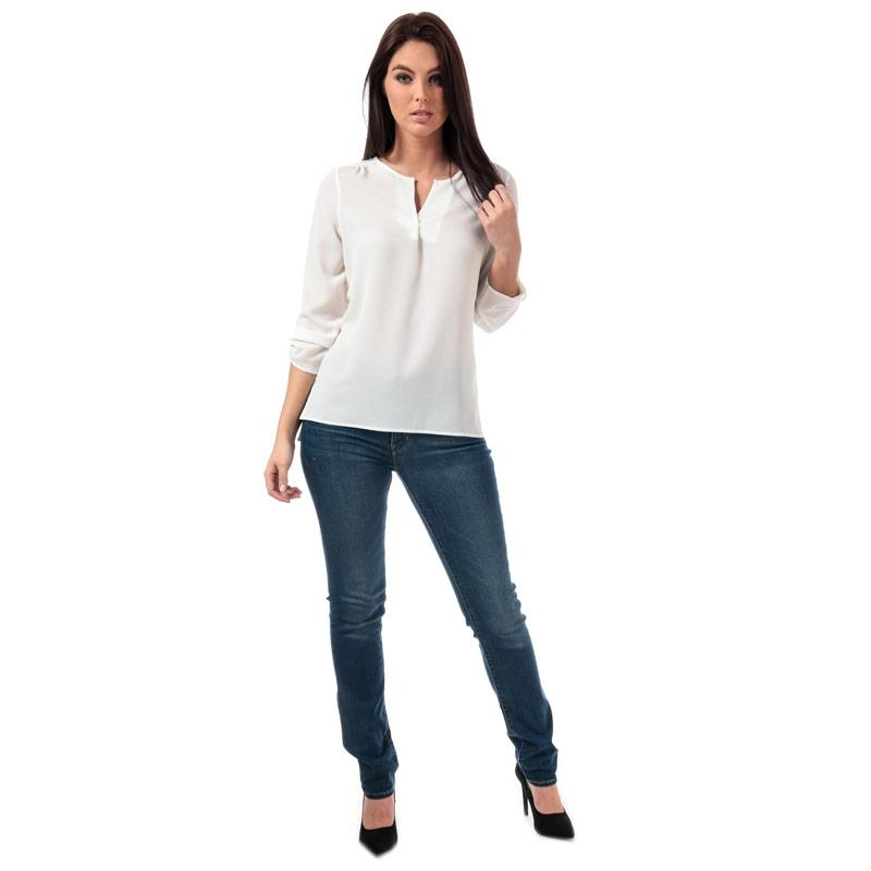 Vero Moda Womens Sasha 3 Quarter Sleeve Top White
