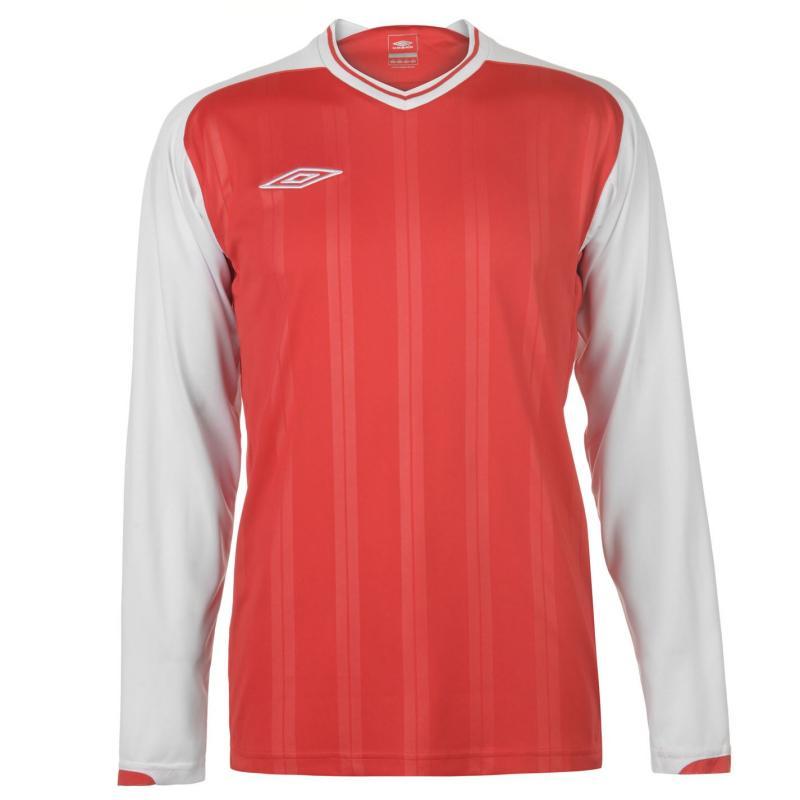 Tričko Umbro Long Sleeve Top Mens Red/White