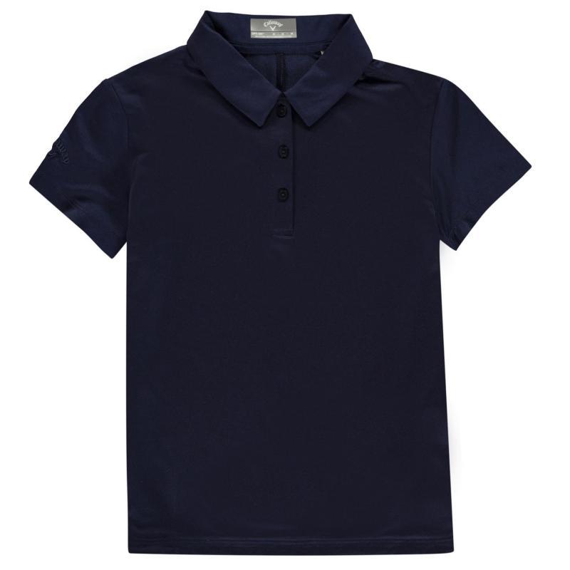 Callaway Stretch Golf Polo Shirt Junior Girls Peacoat