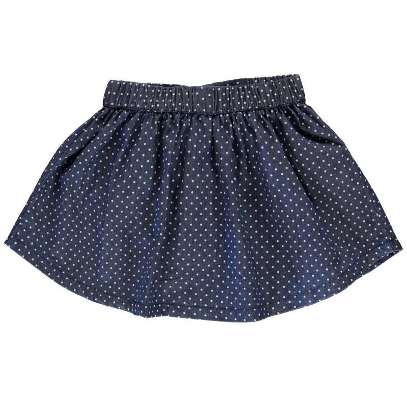 Crafted Essentials Denim Skate Skirt Girls Junior Denim