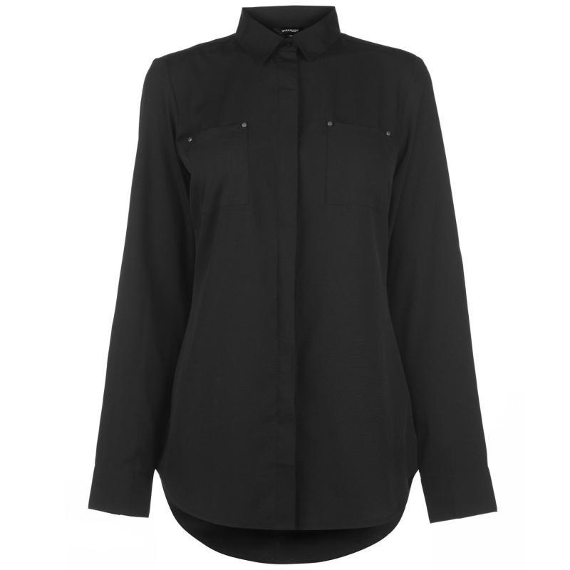 Košile Golddigga Long Sleeve Shirt Ladies Black