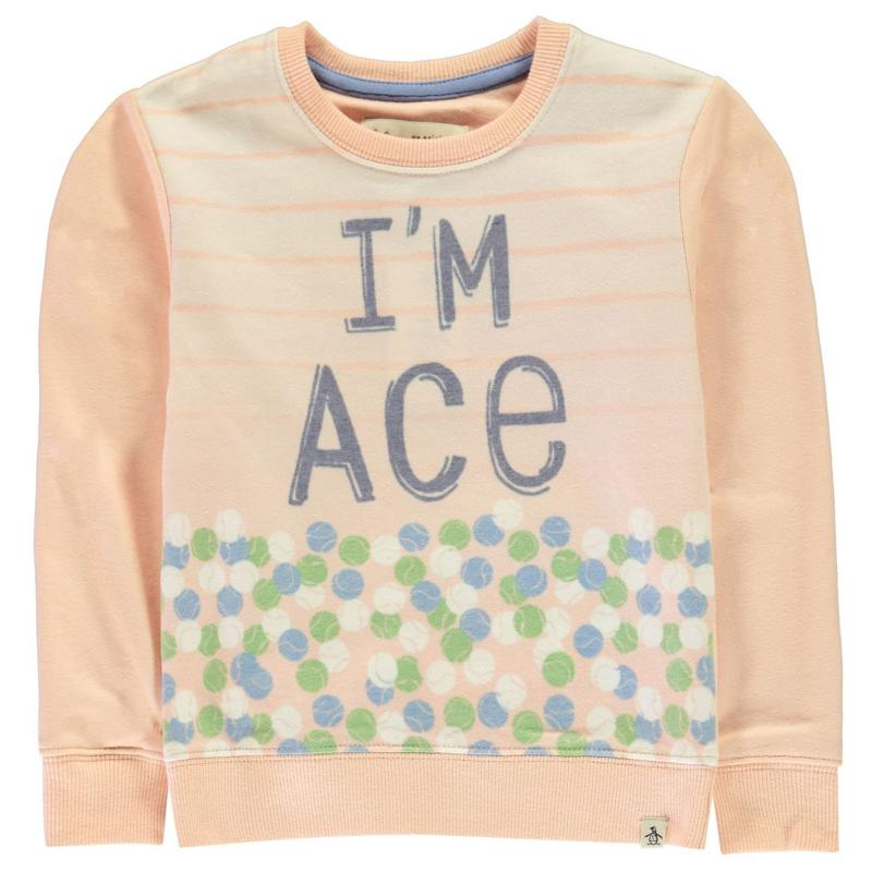 Penguin Im Ace Sweatshirt Infant Girls Scallop Shell