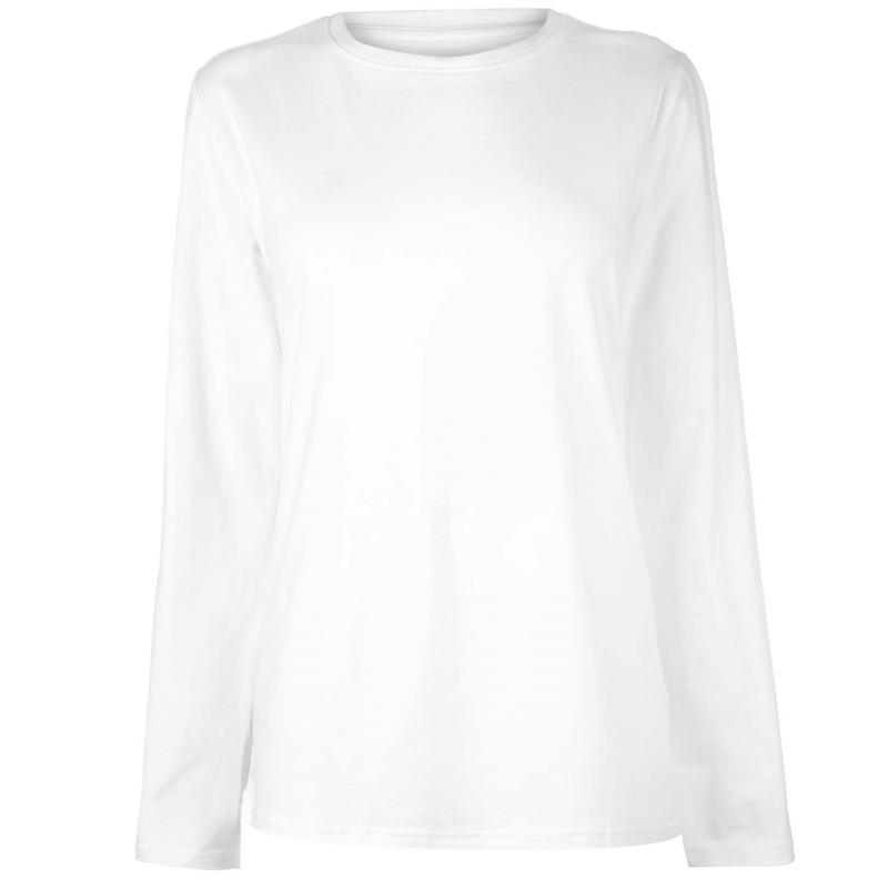 Tričko Rock and Rags Long Sleeve T Shirt Ladies White