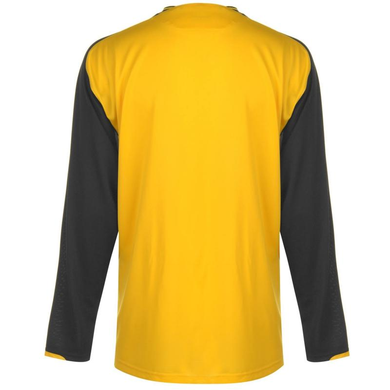 Tričko Umbro Long Sleeve Top Mens Yellow/Black
