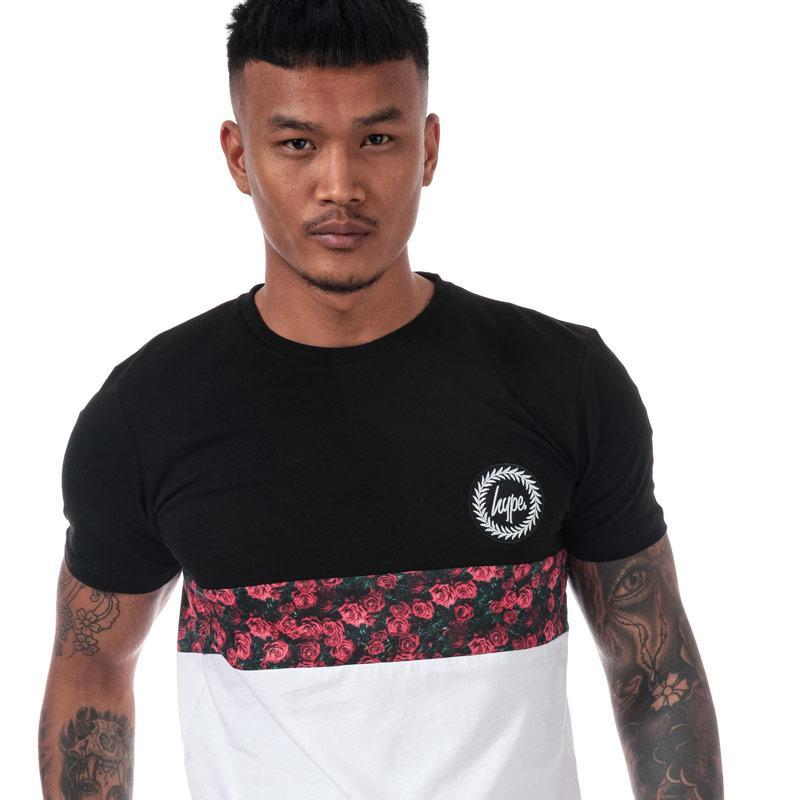 Tričko Hype Men's Centre Rose T-Shirt Black-White