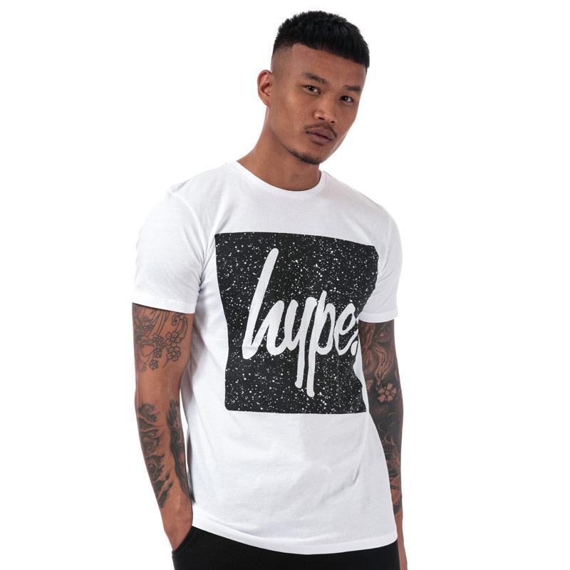 Tričko Hype Men's Speckle Square T-Shirt White Black