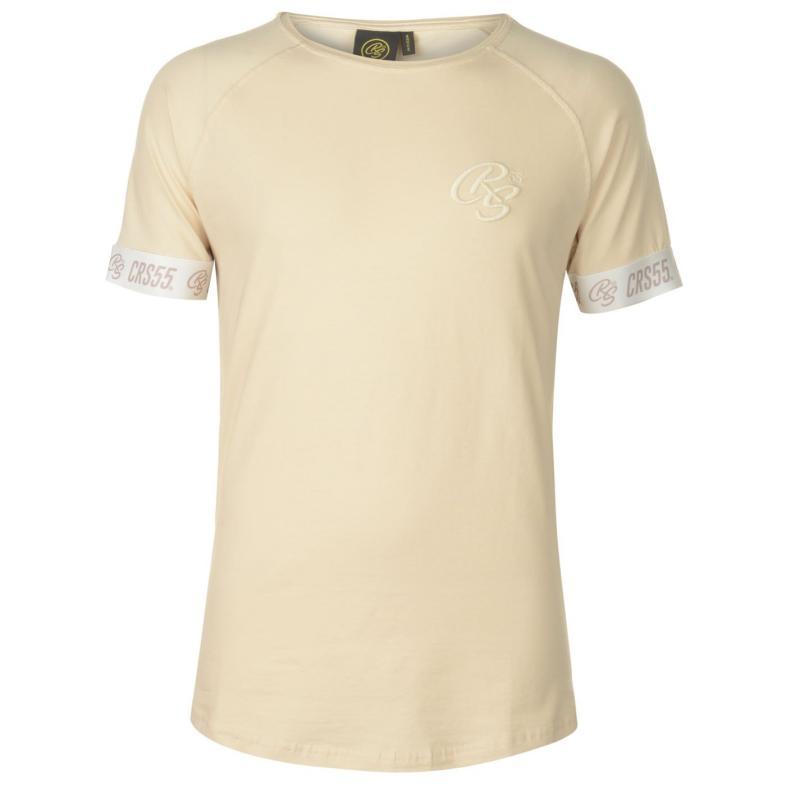 Tričko Crosshatch Tape T Shirt Mens Sand