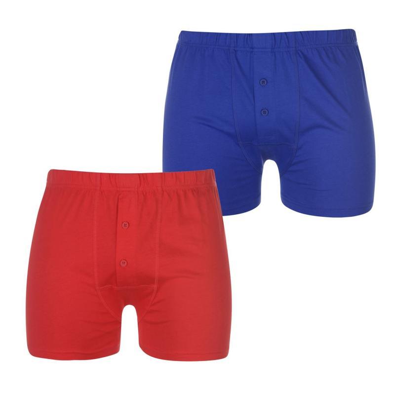 Spodní prádlo Lonsdale 2 Pack Boxers Mens Red/Blue