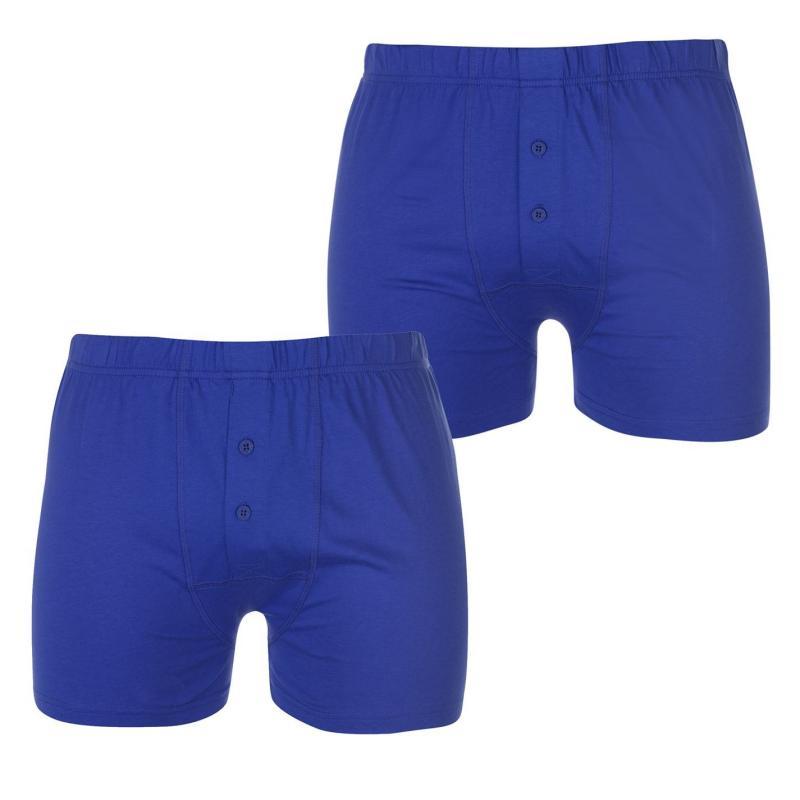 Spodní prádlo Lonsdale 2 Pack Boxers Mens Blue/Blue Marl