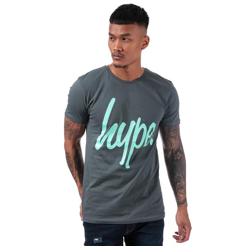 Tričko Hype Men's Script T-Shirt Charcoal