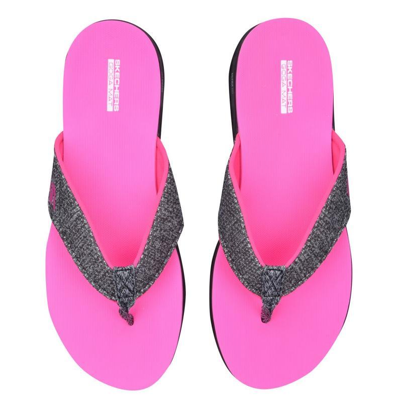 Obuv Skechers Nextwave Ladies Flip Flops Black/Pink