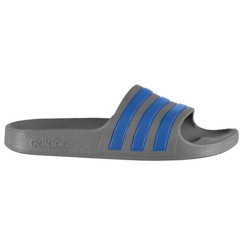 Boty adidas Duramo Slide Pool Shoes Boys Grey/Blue