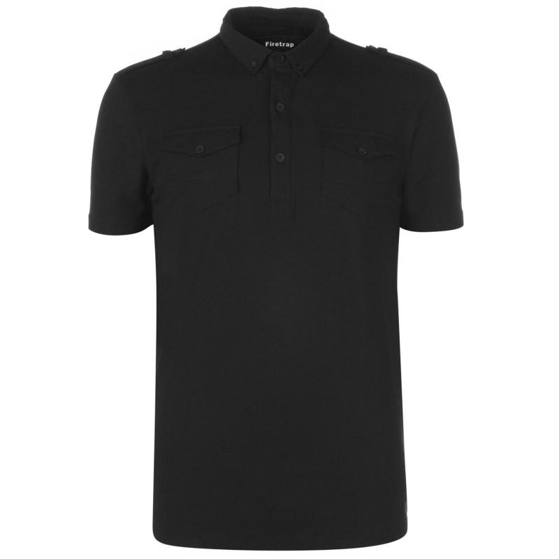 Firetrap Double Pocket Polo Men's Black