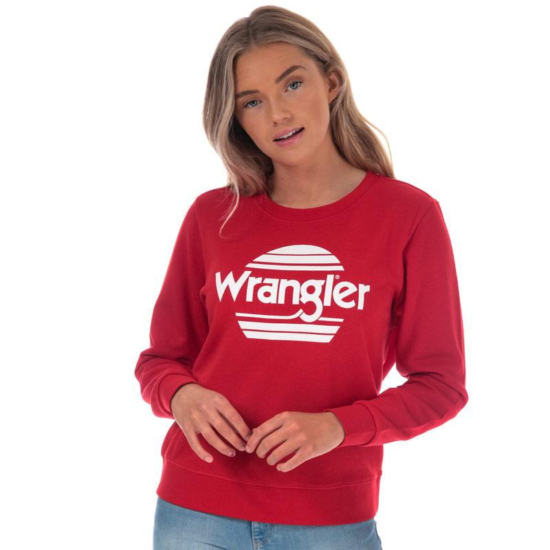 Mikina Wrangler Womens Crew Sweatshirt Red