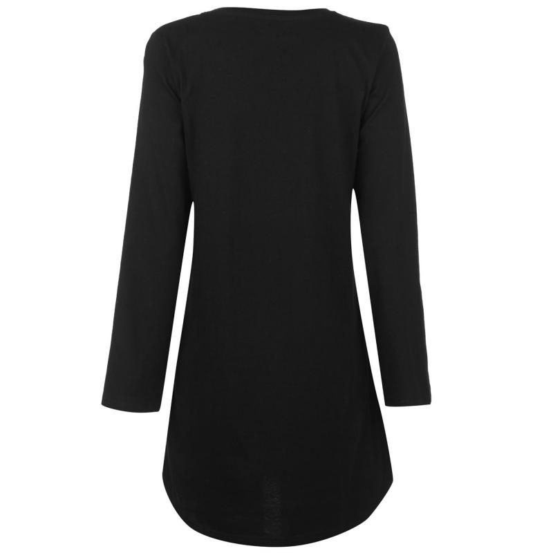 Pyžama Miso Long Sleeve Night Dress Ladies Girls